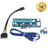 Pcie Riser Pci E 1X To 16X Pci Express Riser Card Usb 3 For Btc Miner Machine 3M Blue Cable เป็นต้นฉบับ