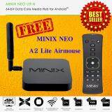 New 2017 Minix Neo U9 H Smart Android Box Ram 2 Gb Rom 16 Gb Octa Core Marshmallow 6 1 Black Free A2 Lite Wireless Air Mouse เป็นต้นฉบับ
