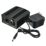 ทบทวน New 48V Phantom Power Supply With Adapter For Condenser Microphone Us Plug Intl