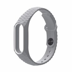 NEW AURORA Xiaomi สายรัดข้อมือ Wristband Strap for Xiaomi Mi Band 2 (เทาขาว)