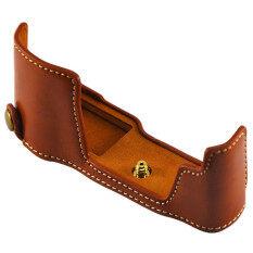 ขาย New Camera Bag Bottom Case For Olympus Om D E M10 Mark Ii Em10Ii Em10 Ii E M10Ii Pu Leather Half Body Set Cover Brown Intl จีน