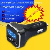 โปรโมชั่น New Dual Usb Car Cigarette Charger With Led Display Volt Amp Meter Dc 4 8A 5V Intl Unbranded Generic ใหม่ล่าสุด