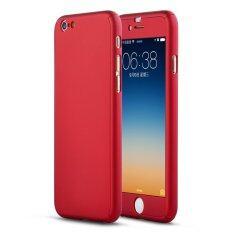 ราคา New Front Back Hard Case Full Body With Tempered Glass For Iphone 6S Plus Red Roybens เป็นต้นฉบับ