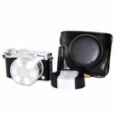 ส่วนลด New Hot Digital Camera Case Bag Pu Leather Cover For J5 10 30Mm F 3 5 5 6 Cover With Strap Intl