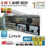 ขาย ซื้อ ออนไลน์ เครื่องบันทึกภาพ 4K 8 ช่อง Full Hd 1080P 4K Output Support 4Mp Onvif P2P 5 In 1 Mode Tvi Cvi Ahd Ip Analog Support Nvizion Dahua Hikvision Watashi Fujiko Belko Bosch Avtech Panasonic Amorn Longse