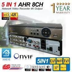 เครื่องบันทึกภาพ 4K 8 ช่อง  Full HD 1080P / 4K Output / Support 4MP / ONVIF /  P2P 5 IN 1 / Mode TVI, CVI, AHD , IP , Analog Support Nvizion/ Dahua/ Hikvision/ Watashi/ Fujiko/ Belko/ Bosch/ AVTech/ Panasonic/ Amorn/ Longse
