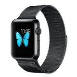 ราคา Niceeshop Apple Watch Band Magnetic Clasp Mesh Loop Milanese Stainless Steel Replacement Strap For Apple Watch Sport Edition 38Mm Black Intl ใหม่ ถูก