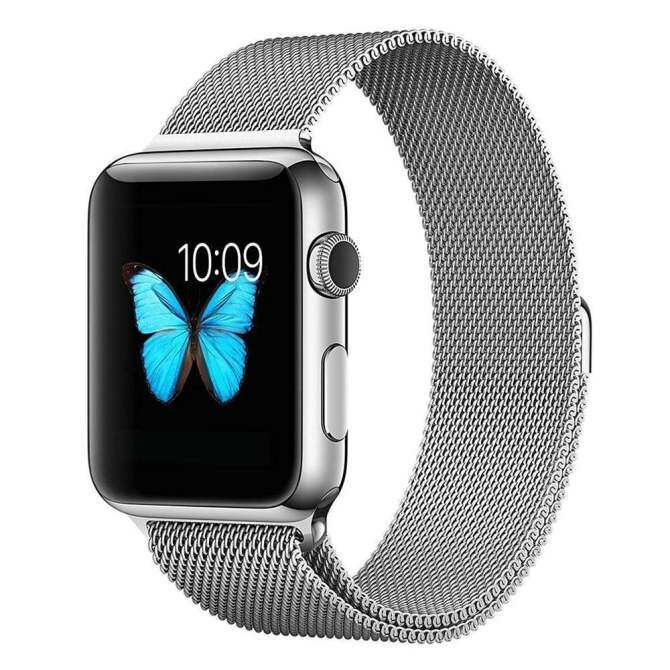 niceEshop Apple Watch Band Magnetic Clasp Mesh Loop Milanese Stainless Steel Replacement Strap For Apple Watch