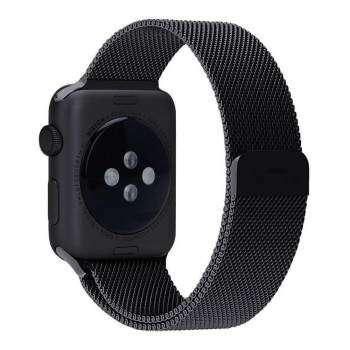 NiceEshop Apple Watch Band สายคล้องมือแม่เหล็กสายรัดห่วง สแตนเลสสำหรับ