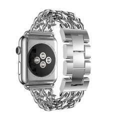 NiceEshop สำหรับสายคาด Apple Watch, wearlizer สแตนเลสสายนาฬิกาข้อมือสายสำรองสำหรับ Apple Watch Series 1 และ Series 2-38 มิลลิเมตรเงิน - INTL