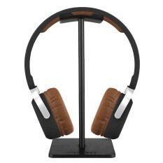 ขาย Niceeshop หูโทรศัพท์บูธ ยูนิเวอร์แซลดิสเพลย์วางหูโทรศัพท์อลูมิเนียมแสดงบูธหูโทรศัพท์ไม้แขวนเสื้อชุดหูฟัง สีดำ Niceeshop เป็นต้นฉบับ