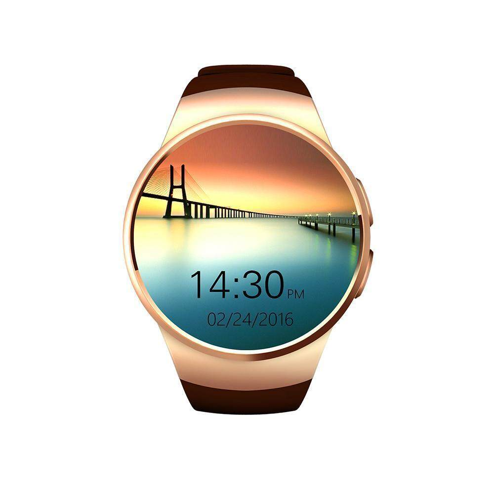 niceEshop KW18 All-in-1 Bluetooth Smart Watch Phones,Sim Wrist Smartwatches For IOS/Android Smartphones,Support SIM TF Card Heart Rate Monitor – intl
