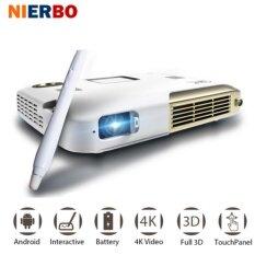 ราคา Nierbo 4K Projector Interactive Portable Projector Full 3D Sch**l Android Wifi Office Education With 10000Mah Battery 2500 Intl ที่สุด