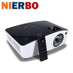ซื้อ Nierbo Ut300 3D Short Throw Projector Support 1080P 8000 Lumen For Sch**l Business Home Black Intl ถูก