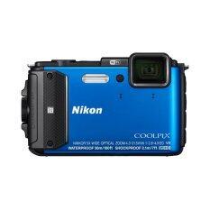 ราคา Nikon กล้องดิจิทัล Coolpix Aw130 สีน้ำเงิน ราคาถูกที่สุด