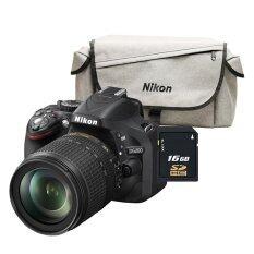 ราคา Nikon Dslr D5200 18 105 Vr Kit Black Sd Card 16Gb Camera Bag Nikon ใหม่