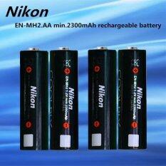 ราคา Nikon ถ่านชาร์จ En Mh2 Aa 1 2V Min 2300Mah Rechargeable Ni Mh Battery 4ก้อน ที่สุด