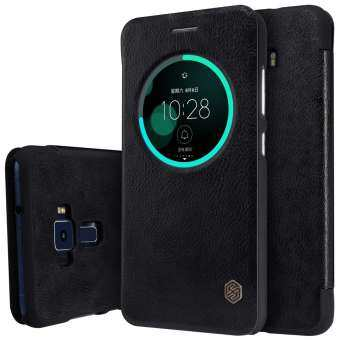 NILLKIN Qin Series Smart View Leather Case for Asus Zenfone 3 ZE552KL - Black - intl-