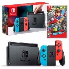 Nintendo Switch (Neon Red/Blue) FREE Super Mario Odyssey (EN)
