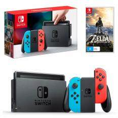 Nintendo Switch (Neon Red/Blue) FREE Zelda: Breath of the Wild (ENG)