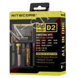 ซื้อ Nitecore D2 Digi Charger แท่นชาร์ตถ่านแบตเตอรี่ D2 Black ใหม่ล่าสุด