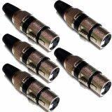 ซื้อ Nke Audio แจ็ค แคนนอน ชุด 5 ตัว Female Xlr Plug ตัวเมีย คาดสีดำ Black Nke Audio ถูก