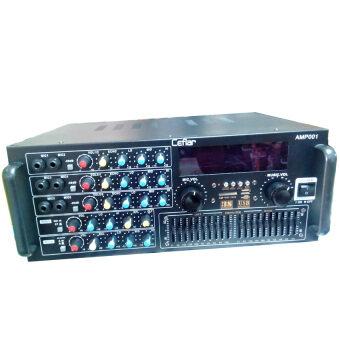 NKE เครื่องขยายเสียงคาราโอเกะ/เพาเวอร์มิกเซอร์4000WATT MP3 USB SD CARDรุ่น Ceflar amp-001