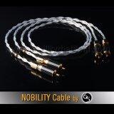 ส่วนลด สินค้า Nobility Rca Cable สายสัญญาณ รุ่น Shark S 880Xh 6N Occ Single Crystal Copper Silver Plated ความยาว 1เมตร สีเงิน 2 เส้น