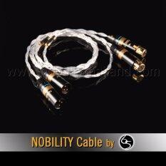 Nobility XLR Cable รุ่น Shark S-880XL 6N OCC single crystal copper silver-plated ความยาว 1เมตร - สีเงิน (2 เส้น)