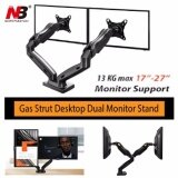 North Bayou Nb F160 By Mastersat ขาตั้งจอ แบบ Dual Gas Strut Desktop Dual Lcd Led Monitor Stand Lcd Stand ขาแขวนจอ Lcd Led แบบ 2 จอ รองรับจอ 17 27 เป็นต้นฉบับ