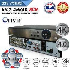 ความคิดเห็น เครื่องบันทึกภาพ 4K 8 ช่อง Full Hd 1080P 4K Output Support 4Mp Onvif P2P 5 In 1 Mode Tvi Cvi Ahd Ip Analog Support Nvizion Dahua Hikvision Watashi Fujiko Belko Bosch Avtech Panasonic Amorn Longse