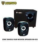 ขาย Nubwo ลำโพง 2 1 Zoni Xshield Sub Woofer Speaker รุ่น Ns 031 สีดำ Nubwo