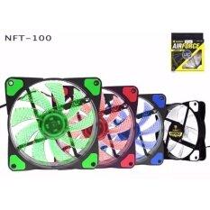 ราคา Nubwo Air Force Fan Cooling พัดลม 12 Cm มีไฟ รุ่น Nft 100 1 200Rpm Pwm Green Current 3 Pin To 4 Pin ใน กรุงเทพมหานคร