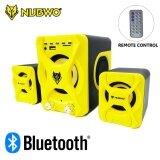 โปรโมชั่น Nubwo Asher Ns 51 ลำโพงบลูทูธ2 1 Bluetooth Speaker Aux 3 5Mm Usb อ่านCard Micro Sd มี Remote Control สีเหลือง