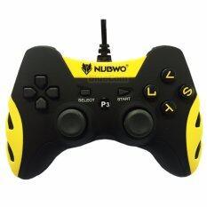 NUBWO จอยเล่นเกม NJ-35 สำหรับ PS3 PC (สีดำ / สีเหลือง)