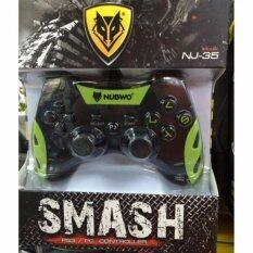 NUBWO จอยเล่นเกม NJ-35 สำหรับ PS3 PC (สีดำ/สีเขียว)