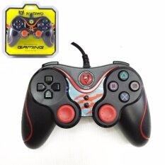 NUBWO Dual Shock จอยเกมส์มิ่งสำหรับคอมพิวเตแร์ JOY USB รุ่น NJ-25 (สีแดง) Red