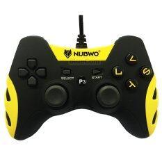 NUBWO จอยเล่นเกม Joy Nubwo NJ-35 สำหรับ PS3 PC (Black/Yellow)