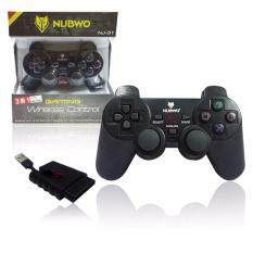 จอยเกมส์ไร้สาย NUBWO JOY Wireless  NJ-31 (3 IN 1) USB,PS2,PS3 รุ่น NJ-31-สีดำ รับประกัน 1 ปี