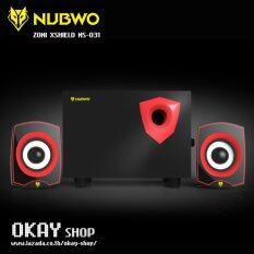 โปรโมชั่น Nubwo ลำโพง 2 1 Zoni Xshield Sub Woofer Speaker รุ่น Ns 031 สีดำแดง กรุงเทพมหานคร