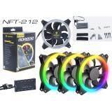 ซื้อ Nubwo Nft 212 Riing พัดลม เคส Fan Case 12 Cm Rgb Led Fan Concentric Circular เเพ็ก 3 มี Controller ปรับ สี ความเร็ว Nubwo ออนไลน์