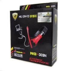 ราคา Nubwo No 003N Multimedia Stereo Headphone Red หูฟังสเตอริโอ สีแดง ขนส่งโดย Kerry Express ราคาถูกที่สุด