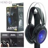 ราคา Nubwo No Q2 Justice Stereo Headset Surround Sound สีดำ เป็นต้นฉบับ