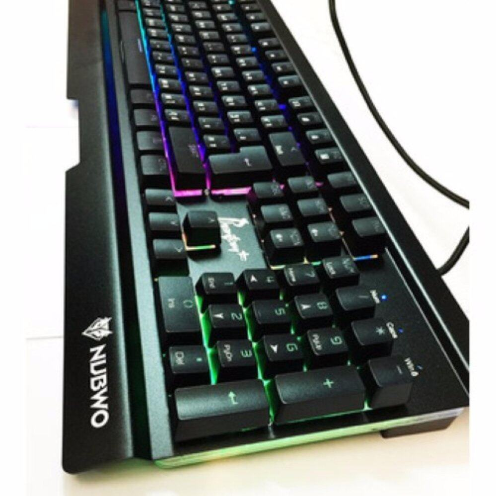 Nubwo Phantom Plus Gaming Keyboard Semi Mechanical Blue Switch รุ่น NK-55 - (สีดำ)
