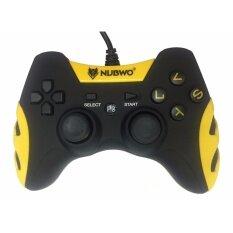 NUBWO SMASH จอยเล่นเกมมิ่ง USB JOY สำหรับ PS3 PC Controller รุ่น NJ-35 (สีดำเหลือง) Black Yellow