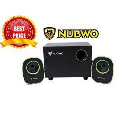 โปรโมชั่น Nubwo ลำโพงคอมUsb Speaker 2 1 Mean Machine Ns 030 ลำโพง สีเขียว ใน กรุงเทพมหานคร