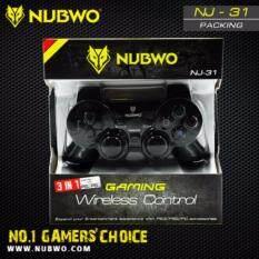 NUBWOจอย เกมมิ่ง คอนโทรล ไร้สาย เกมมิ่ง3 IN 1 USB/PS2,PS3รุ่น NJ-31 (Black)(Black)