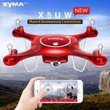 โดรนบังคับ ติดกล้อง ดูภาพผ่านมือถือ Syma X5Uw 720P Wifi Fpv With 2Mp Hd Camera With Altitude Mode Rc Quadcopter Rtf Red ใน กรุงเทพมหานคร