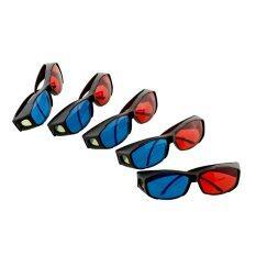 Oem 5 ชิ้นสีแดงสีฟ้า 3d กรอบแก้วสำหรับมิติภาพยนตร์.
