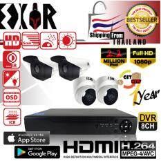 (OEM Hikvision) ชุดกล้องวงจรปิดกล้อง 8CH CCTV กล้อง 4ตัว ทรงกระบอก  และโดม 2.2 MP Full HD  และอนาล็อก เครื่องบันทึก 8ช่อง 1080P  DVR, NVR, AHD / IP / ANALOG ฟรี อะแดปเตอร์ ฟรี ขายึดกล้อง